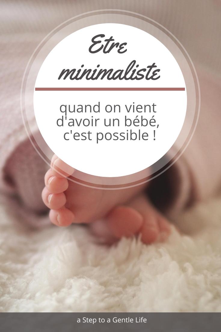 Etre minimaliste quand on vient d'avoir un bébé, c'est possible !